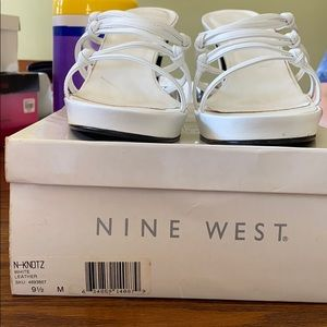 Nine West white women's Sandals size 9 1/2